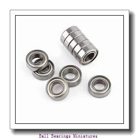 4mm x 7mm x 2mm  ZEN smf74-zen Ball Bearings Miniatures