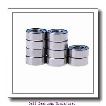 4mm x 13mm x 5mm  ZEN s624-2rs-zen Ball Bearings Miniatures