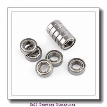 4mm x 12mm x 4mm  ZEN s604-2rs-zen Ball Bearings Miniatures