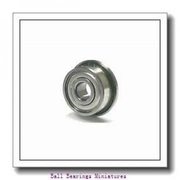 4mm x 8mm x 3mm  ZEN mr84-2rs-zen Ball Bearings Miniatures