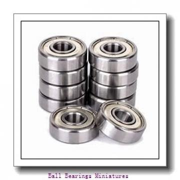 4mm x 12mm x 4mm  ZEN sf604-zen Ball Bearings Miniatures