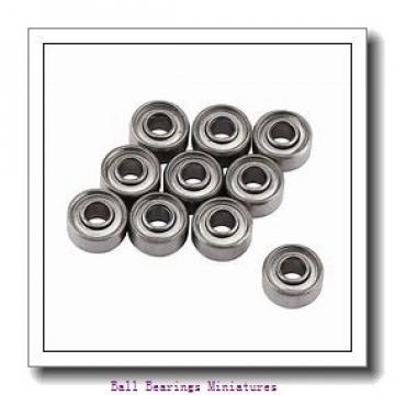 3mm x 13mm x 5mm  ZEN s633-2z-zen Ball Bearings Miniatures