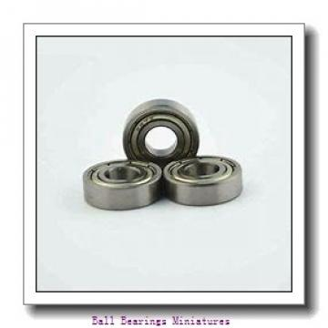 4mm x 8mm x 3mm  ZEN mf84-2z-zen Ball Bearings Miniatures