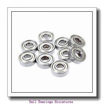 4mm x 7mm x 2.5mm  ZEN mf74-2z-zen Ball Bearings Miniatures