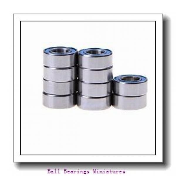 4mm x 13mm x 5mm  ZEN s624-2rs-zen Ball Bearings Miniatures #2 image