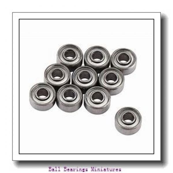 4mm x 13mm x 5mm  ZEN sf624-zen Ball Bearings Miniatures #1 image