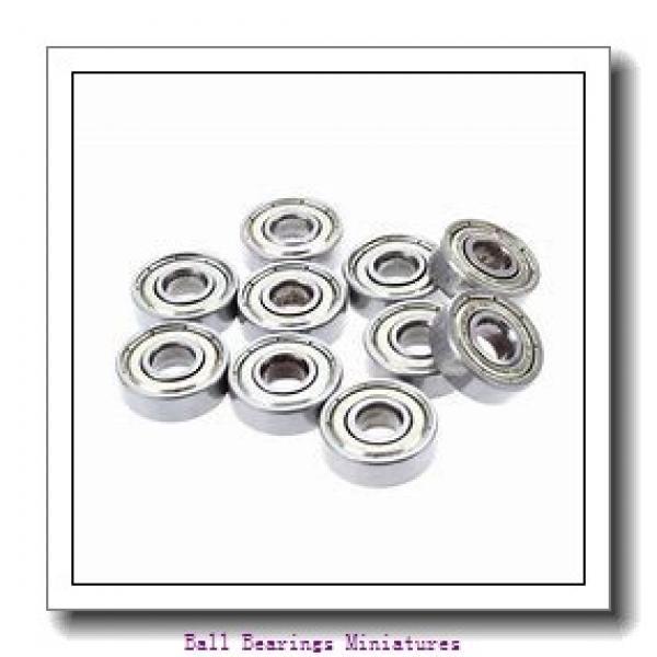 4mm x 13mm x 5mm  ZEN sf624-zen Ball Bearings Miniatures #2 image